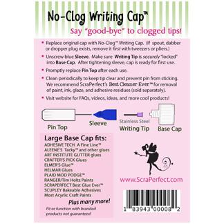 no clog writing caps scraperfect